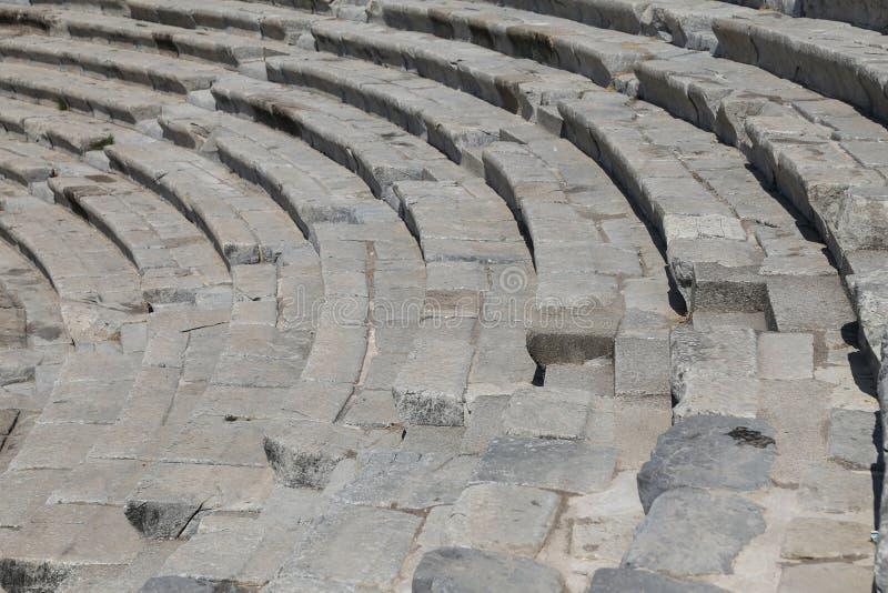 Teatro de Halicarnassus em Bodrum, Turquia foto de stock royalty free