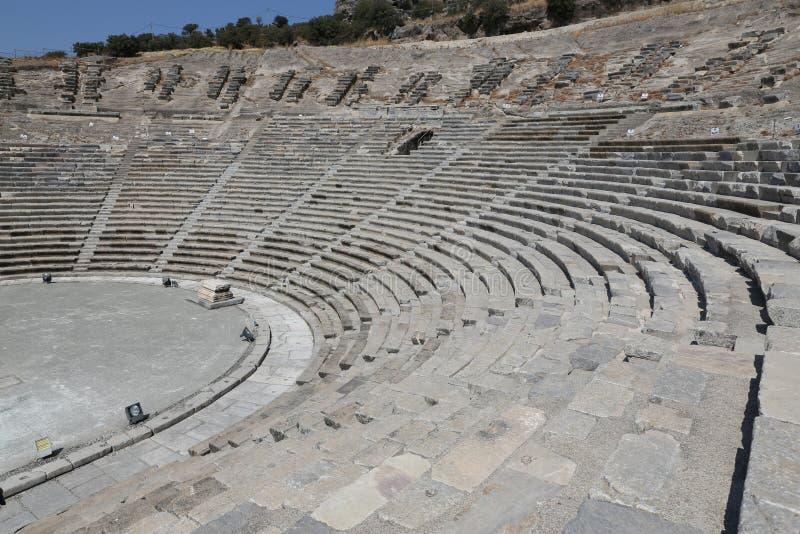 Teatro de Halicarnassus em Bodrum, Turquia fotografia de stock royalty free