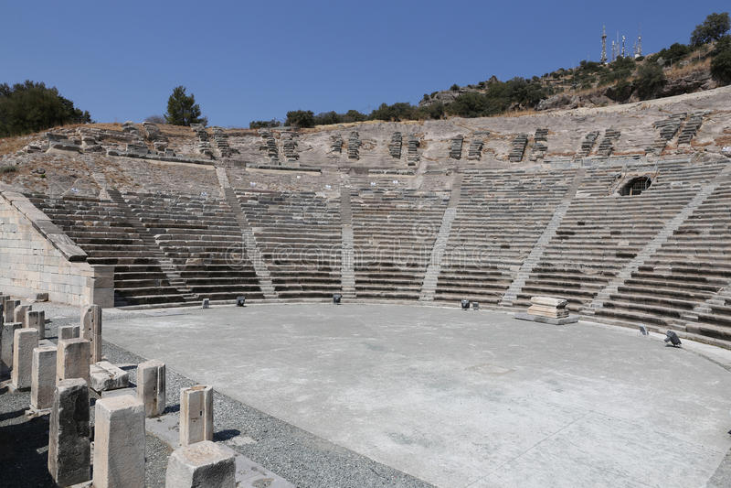 Teatro de Halicarnassus em Bodrum, Turquia imagens de stock