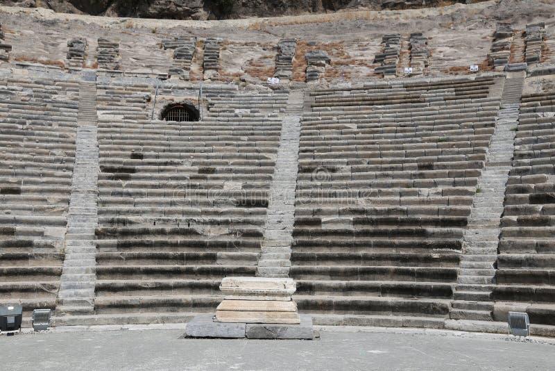 Teatro de Halicarnassus em Bodrum, Turquia imagem de stock