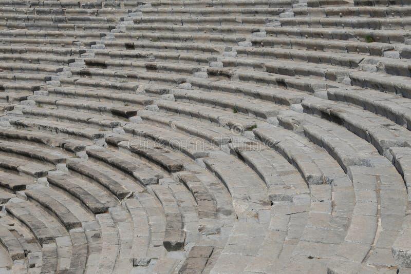 Teatro de Halicarnassus em Bodrum, Turquia imagem de stock royalty free