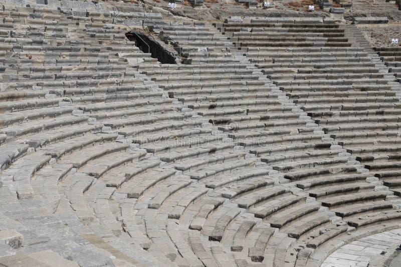 Teatro de Halicarnassus em Bodrum, Turquia fotos de stock