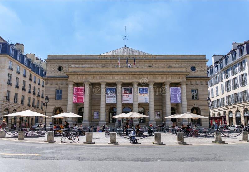 Teatro de l 'Odeon no 6o arrondissement de Paris foto de stock royalty free