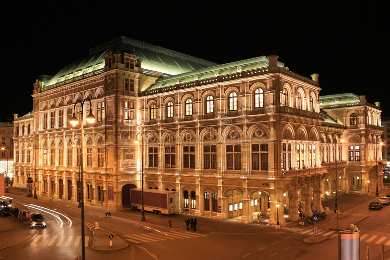 Teatro de la ópera 01, Viena, Austria del estado fotografía de archivo
