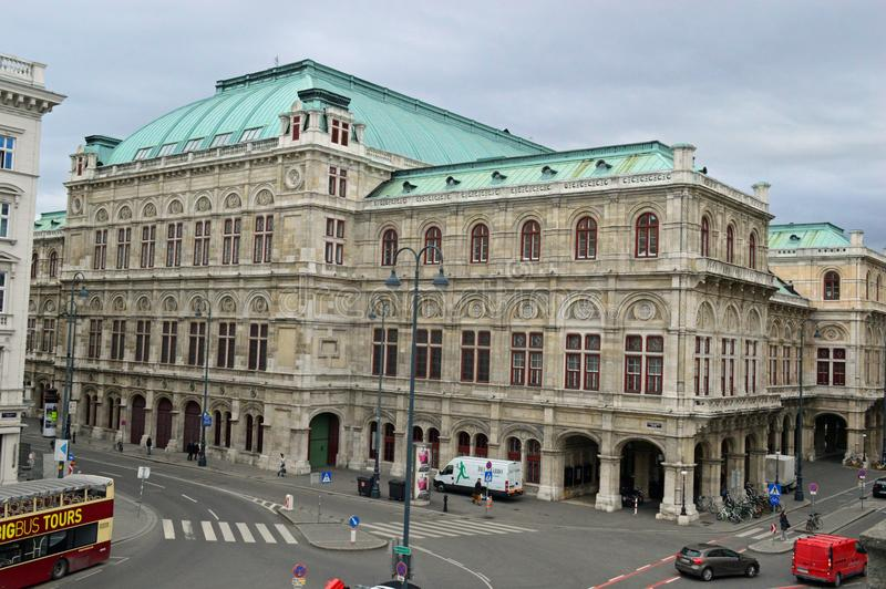 Teatro de la ópera Austria del estado de Viena foto de archivo