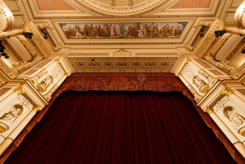 Teatro de la ópera de Dresden interior foto de archivo