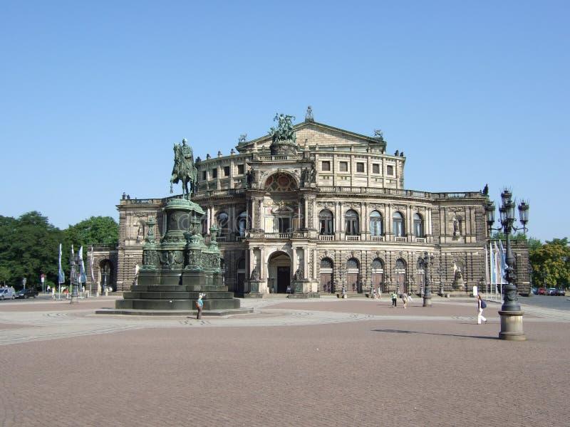 Teatro de la ópera de Semper, Dresden fotos de archivo libres de regalías