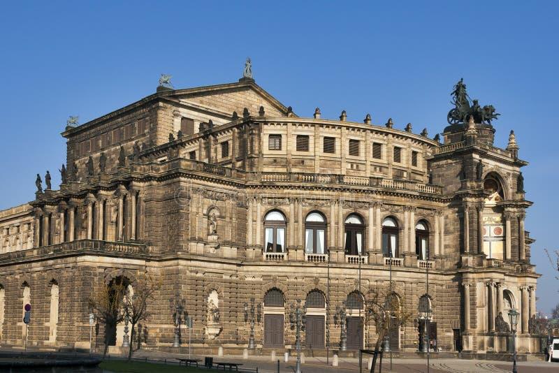 Teatro de la ópera de Semper en Dresden fotos de archivo