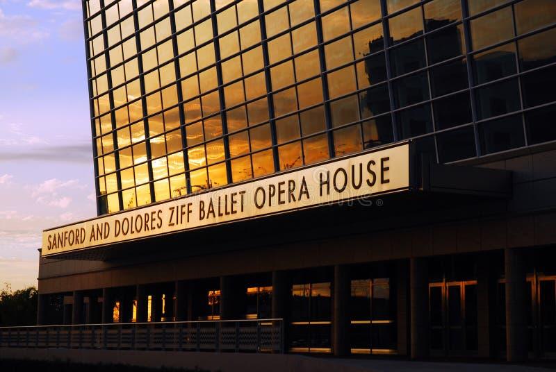 Teatro de la ópera de Ziff fotografía de archivo libre de regalías
