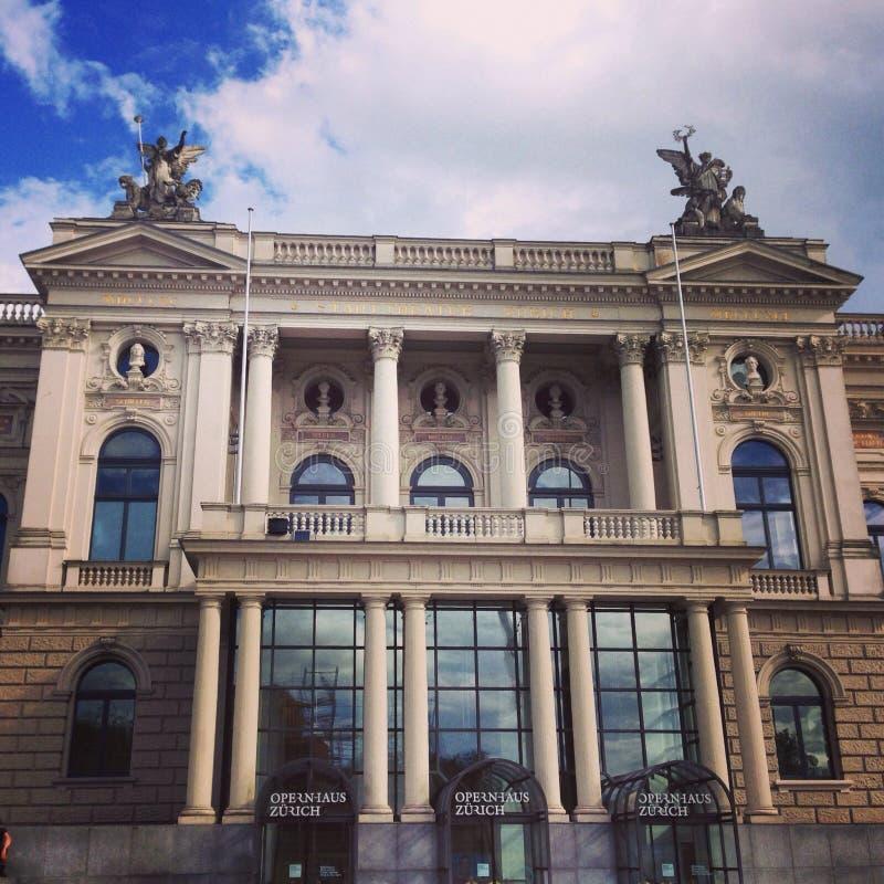 Teatro de la ópera de Zurich fotografía de archivo