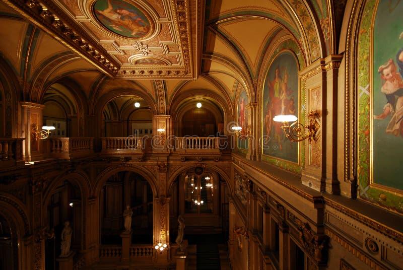 Teatro de la ópera del estado de Viena imagen de archivo libre de regalías