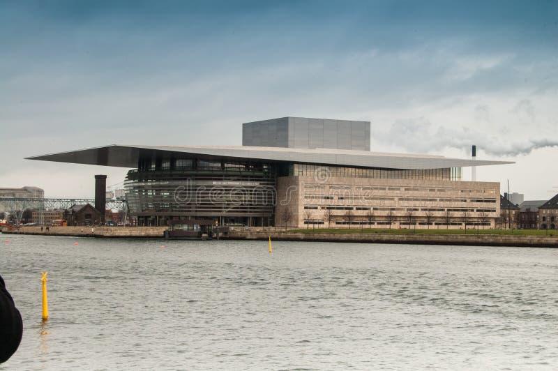 Teatro de la ópera en Copenhague fotos de archivo