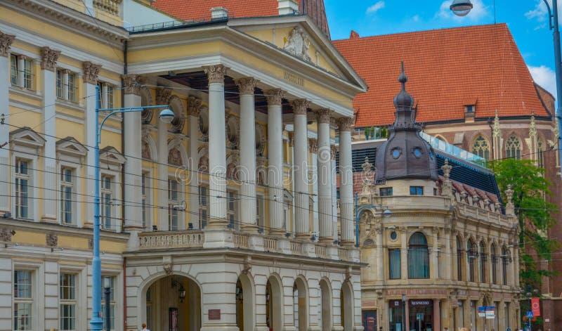 Teatro de la ópera en Wroclaw Polonia fotos de archivo