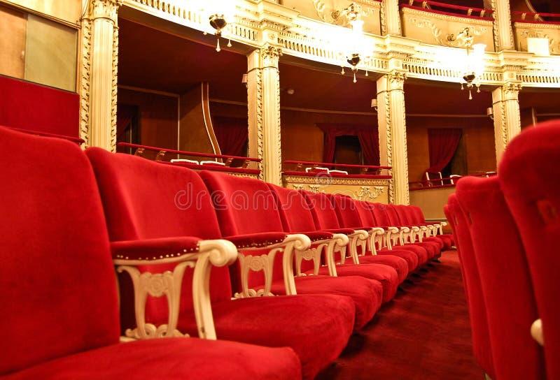 Teatro de la ópera público - asiento imagen de archivo