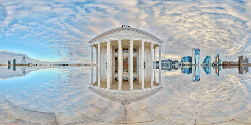 Teatro de la ópera Reflexión abstracta Astana kazakhstan foto de archivo libre de regalías