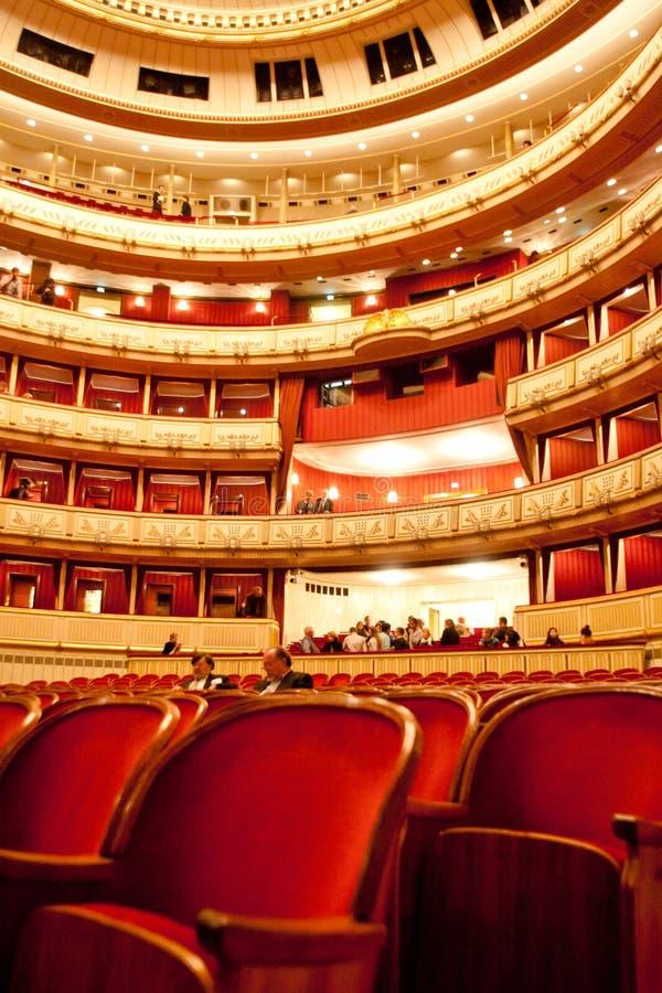 Teatro de la ópera de Viena, Austria fotografía de archivo libre de regalías