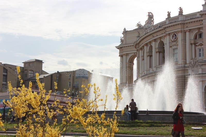 Teatro de la ópera y de ballet de Odessa imagen de archivo libre de regalías