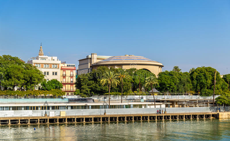 Teatro de la Maestranza, ein Opernhaus in Sevilla, Spanien lizenzfreies stockbild