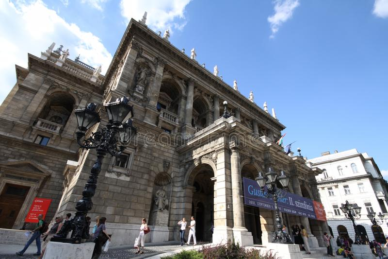 Teatro de la ?pera de Budapest foto de archivo libre de regalías