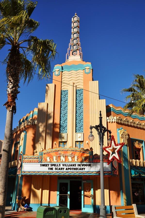 Teatro de la puesta del sol de Beverly en los estudios de Disney Hollywood foto de archivo