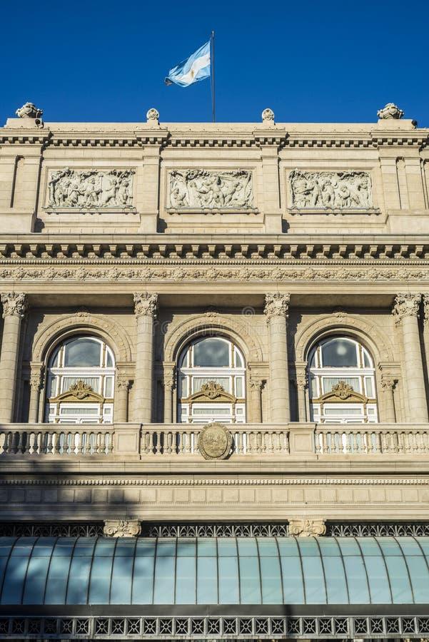 Teatro de los dos puntos en Buenos Aires, la Argentina. imagen de archivo