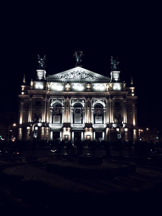 Teatro de Lviv imagenes de archivo