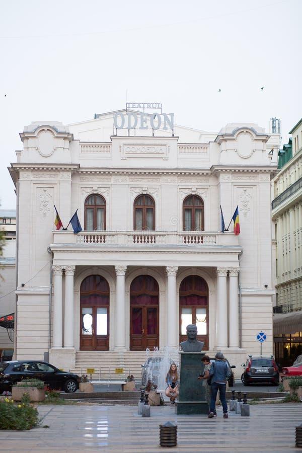Teatro de Odeon - Bucareste, Romênia foto de stock royalty free