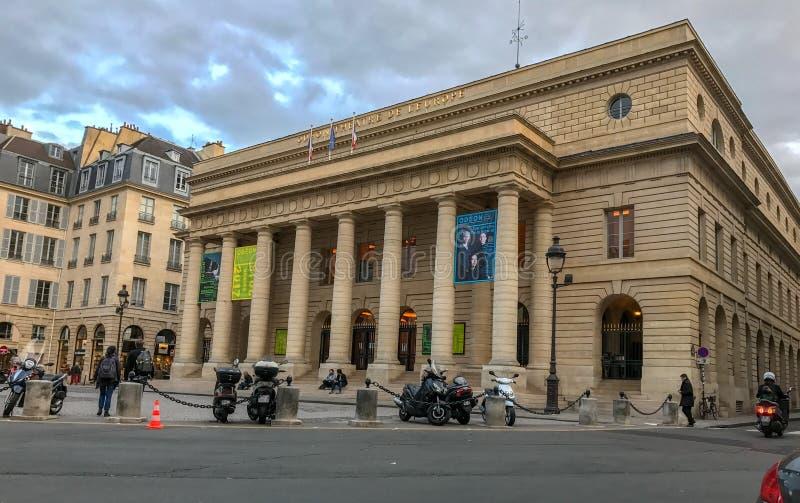 Teatro de Odeon, Paris, França fotografia de stock royalty free