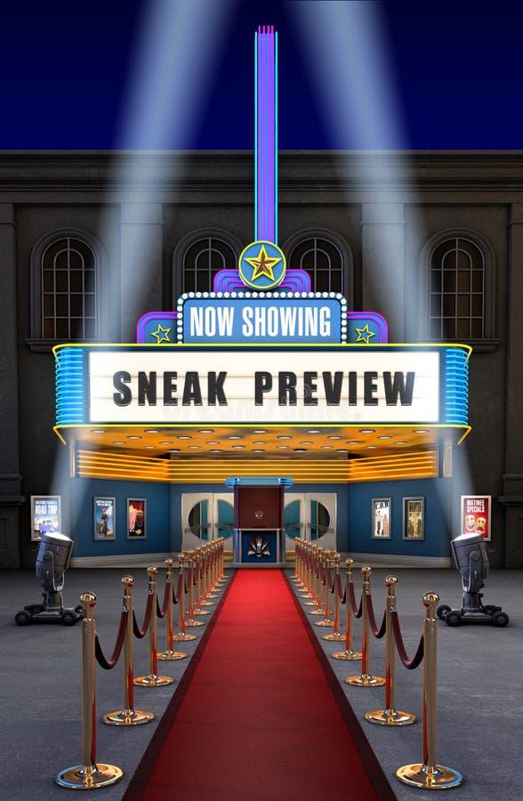 Teatro de película y rectángulo del boleto libre illustration