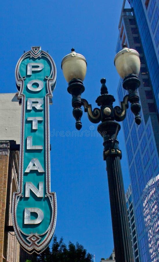 Teatro de Portland imagen de archivo libre de regalías