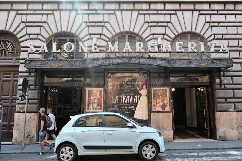 Teatro de Salone Margherita en Roma fotos de archivo libres de regalías