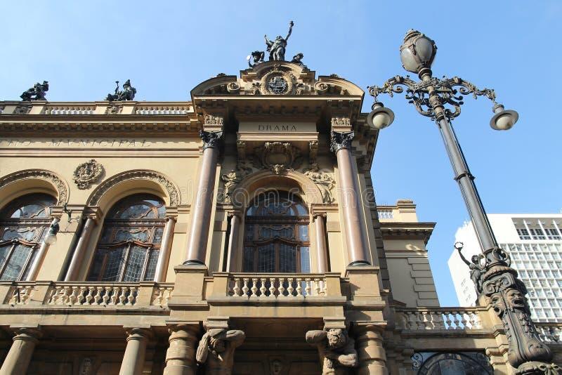 Teatro de Sao Paulo imagem de stock