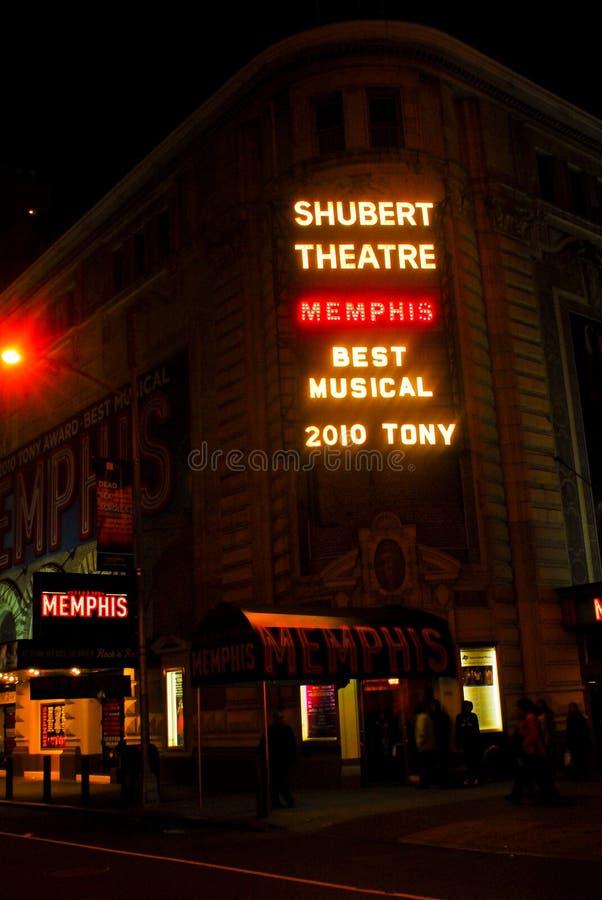 Teatro de Shubert, Manhattan, NYC foto de stock