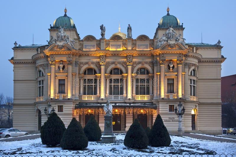 Teatro de Slowacki - Kraków - Polonia fotografía de archivo