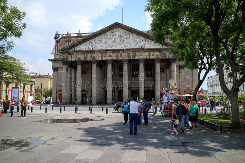 Teatro Degollado. Guadalajara, Jalisco. stock photo
