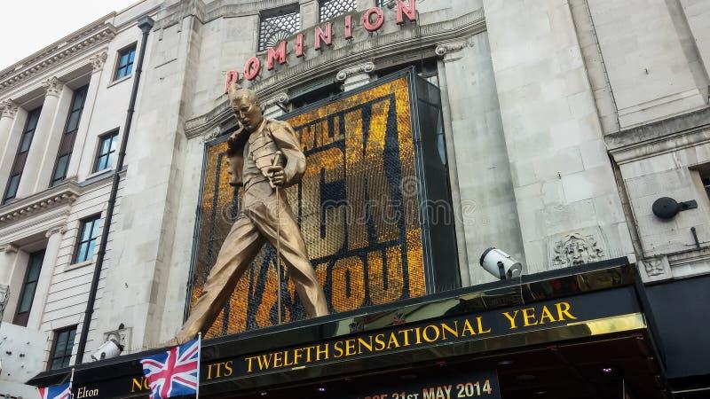 Teatro del dominio en Londres foto de archivo