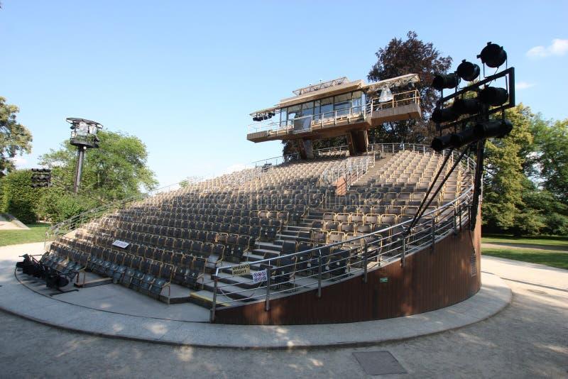 Teatro del eslabón giratorio del auditorio imagen de archivo