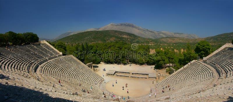 Teatro del greco antico fotografie stock