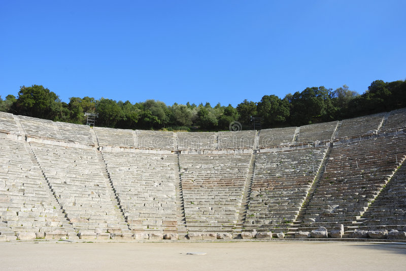 Teatro del griego clásico imagen de archivo libre de regalías
