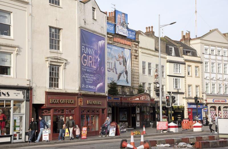 Teatro del hipódromo y taquilla en Bristol Reino Unido fotografía de archivo
