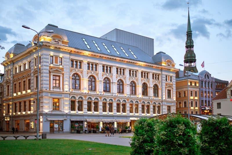 Teatro del ruso de Riga imagen de archivo