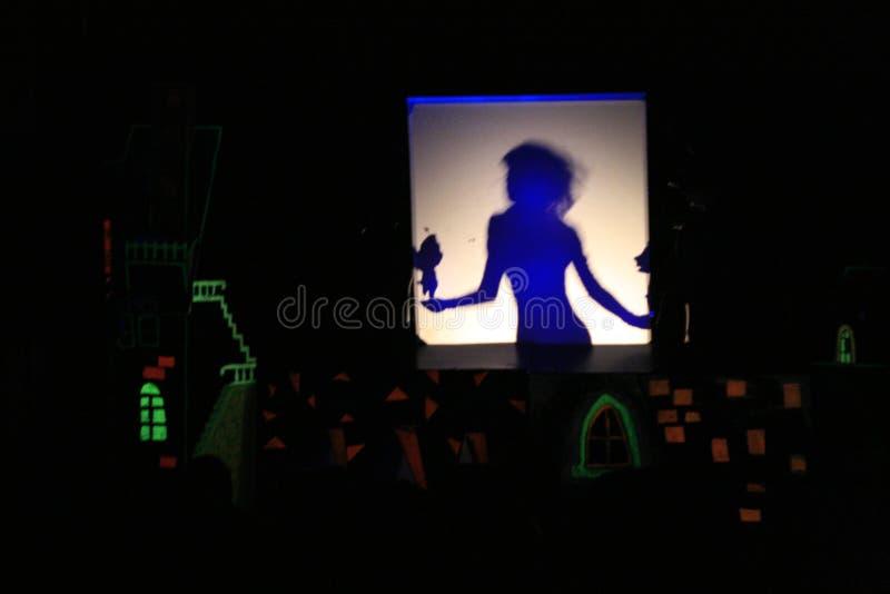Teatro dell'ombra fotografia stock