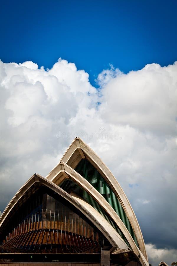 Teatro dell'Opera dalla baia, ritratto di Sydney fotografia stock