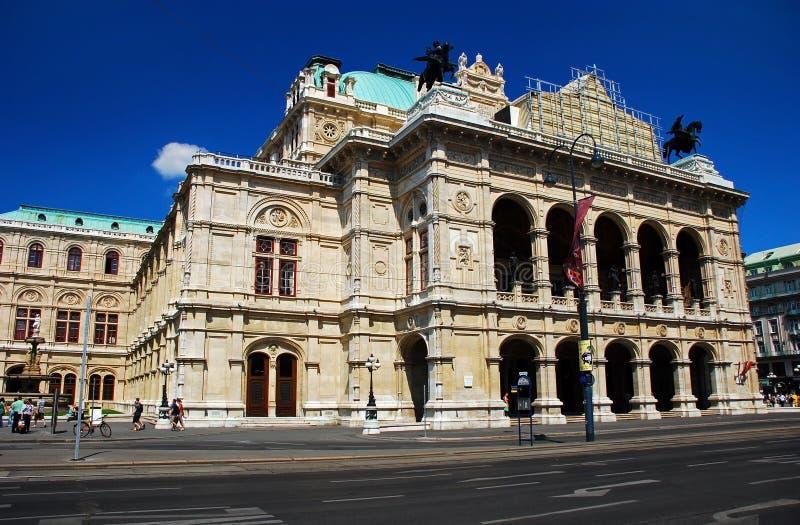 Teatro dell'Opera della condizione di Vienna fotografie stock libere da diritti