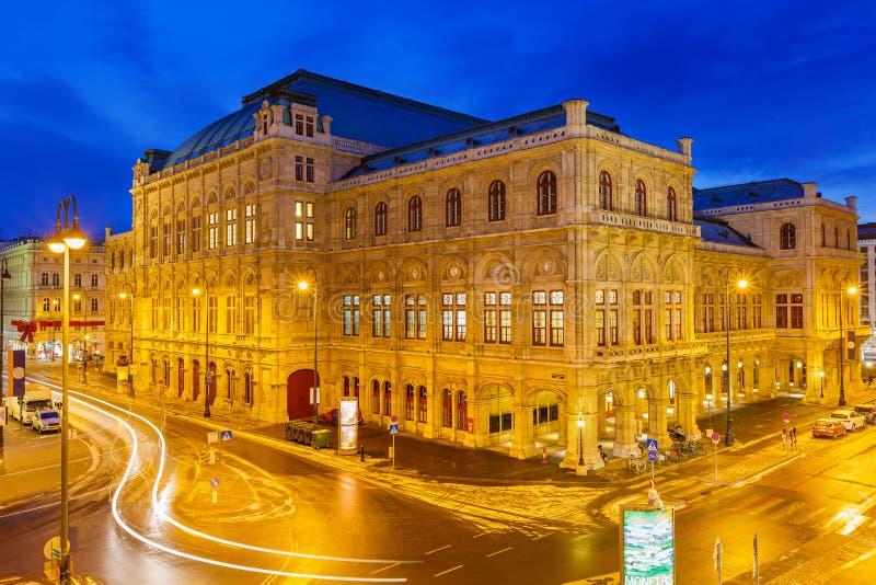 Teatro dell'opera dello stato, Vienna, Austria fotografie stock