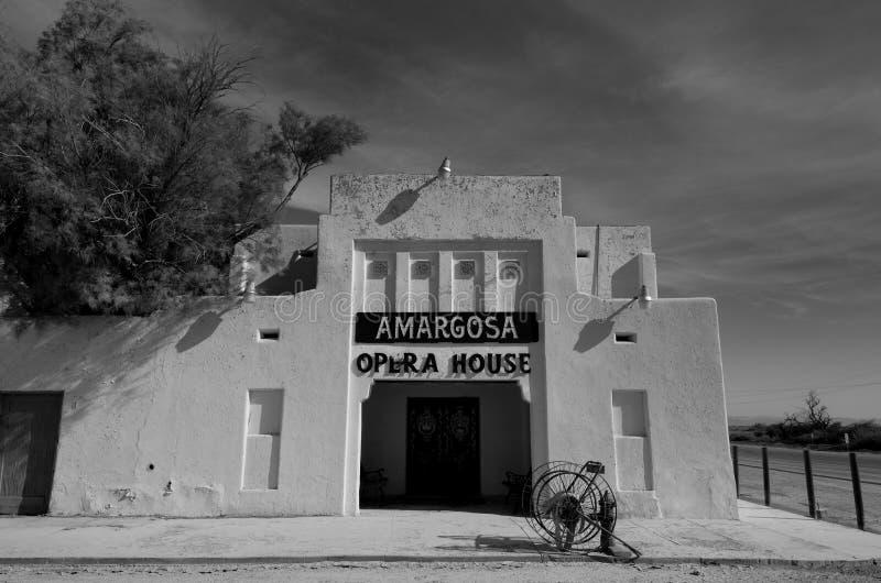 Teatro dell'opera di Amargosa nel b&w fotografie stock libere da diritti