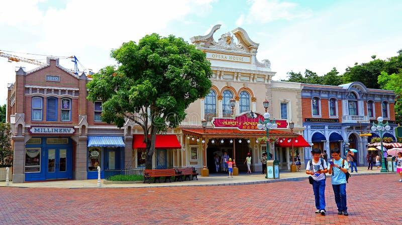 Teatro dell'opera di Hong Kong Disneyland fotografia stock