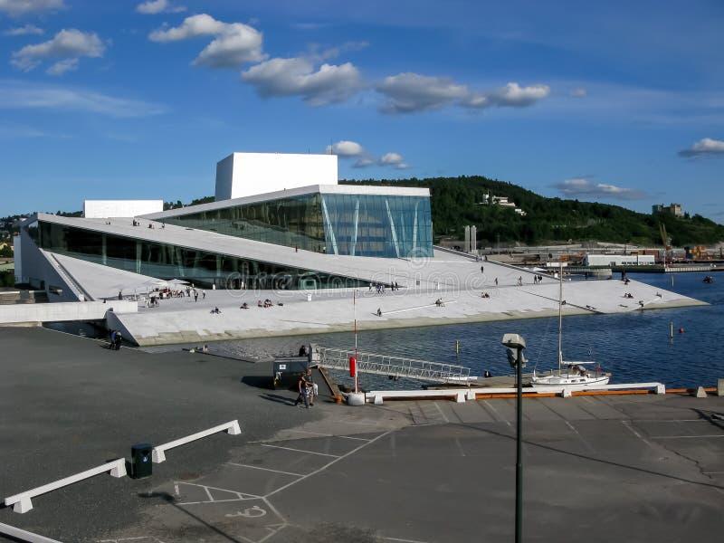 Teatro dell'opera di Oslo in Norvegia immagine stock