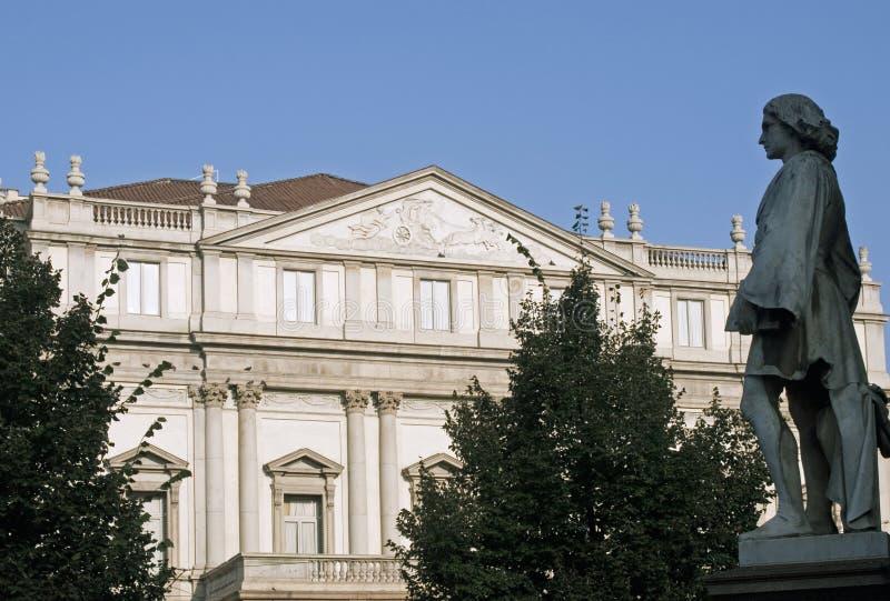 Teatro dell'Opera di Scala - Milano fotografia stock libera da diritti