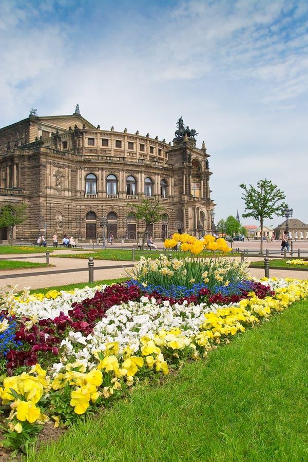 Teatro dell'Opera di Semper, Dresda immagine stock libera da diritti